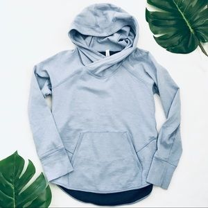 Lululemon light blue hooded pullover hoodie